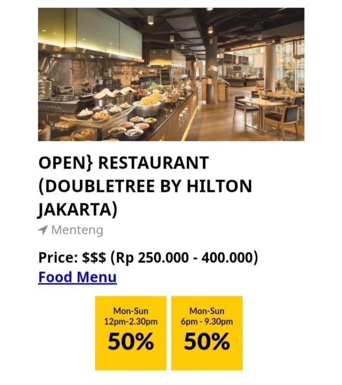 【50%OFFクーポン】DoubleTree by Hilton のランチブッフェ