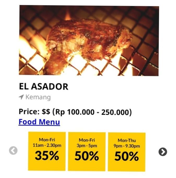 【50%offクーポン】お肉が美味しいエルアサドール
